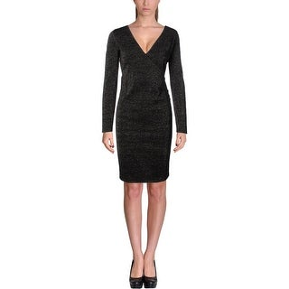 Marc New York Womens Cocktail Dress Knit Faux-Wrap
