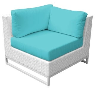 Florida 36 Inch Wide Aluminum Framed Outdoor Corner Sofa (More options available)