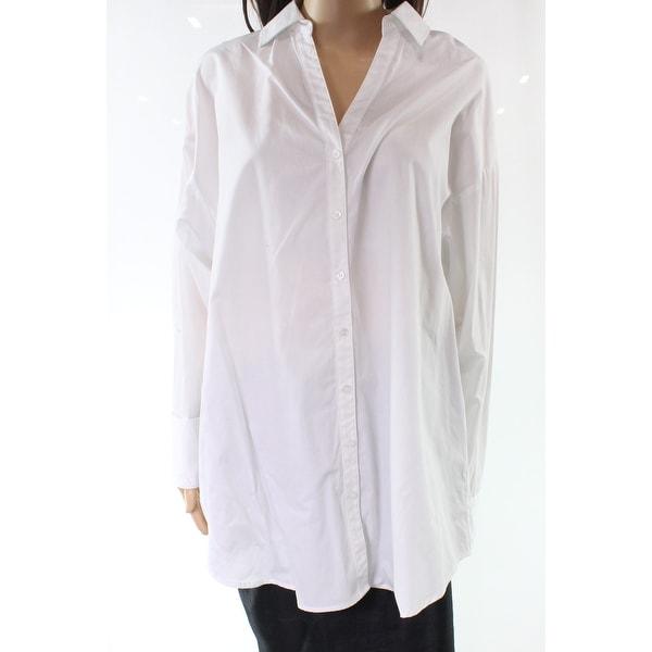 Shop Ro De White Womens Size Small S French Cuff Button Down