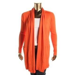 Lauren Ralph Lauren Womens Open Front Drapey Cardigan Sweater