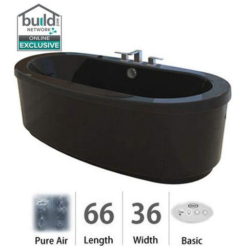 """Jacuzzi BRF6636ACX2XX Bravo 66"""" Pure Air Freestanding Bathtub with Center Drain and Reversible Blower"""
