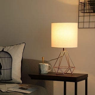 Link to CO-Z 18-Inch Modern Table Lamp with Hollowed Out Base for Living Room Bedroom Similar Items in Table Lamps