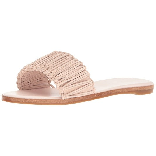 Rachel Zoe Womens Raina Suede Open Toe Casual Slide Sandals
