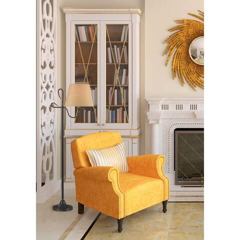 Victor Floor Lamp - Golden Flecked Bronze