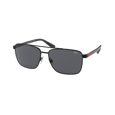 Polo PH3137 926787 59 Semi-shiny Black Man Pillow Sunglasses