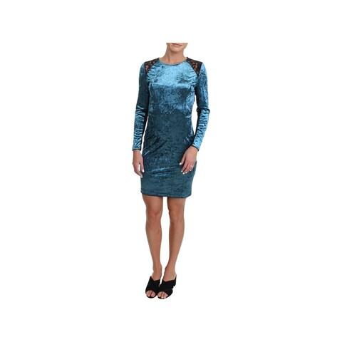 Juicy Couture Black Label Womens Party Dress Velour Lace Trim