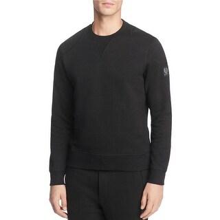 Belstaff Mens Jefferson Crewneck Sweatshirt X-Large XL Fleece Black Pullover