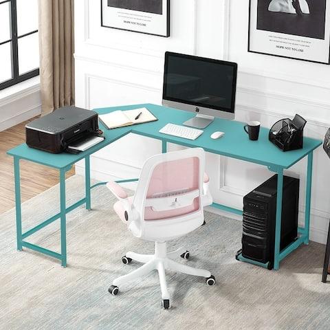 VECELO Broad L-shaped Computer/ Gaming/ Laptop Home Corner Office Desk