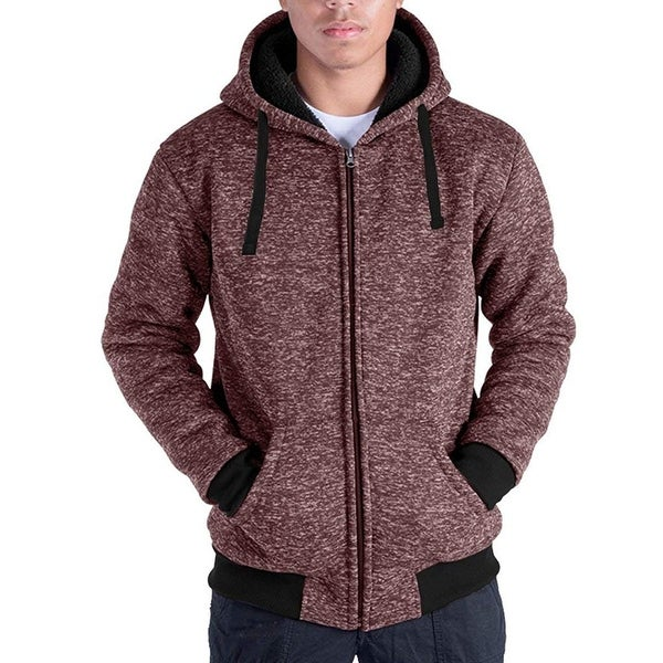 a82aaa01 Shop HanTon Men's Sherpa-Lined Full-Zip Hoodie - Free Shipping On Orders  Over $45 - Overstock - 24259526
