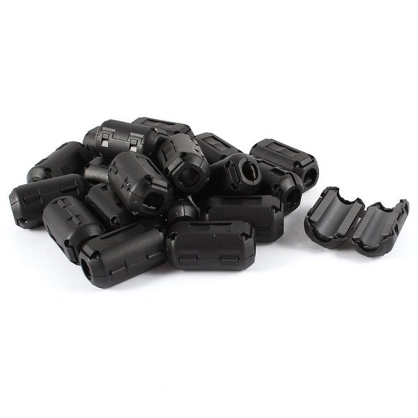Unique Bargains 20 Pcs Black Clip On EMI RFI Noise Ferrite Core Filter for 9mm Cable