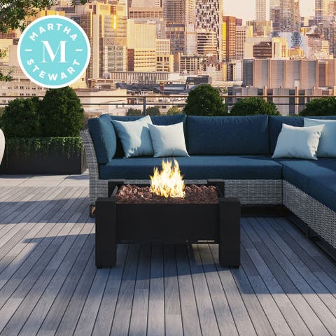 Martha Stewart Perry Street Gas Heating 30 Square Charcoal Fire Pit