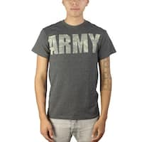 United States Army Pixelated Graphic Printed Design Men's Casual T-shirt, Grey