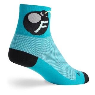 SockGuy Classic 3in F Bomb Cycling/Running Socks - f bomb