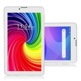 Official Android Pie TabletPC & SmartPhone by Indigi , 7-inch Display (QuadCore CPU, 2GB RAM/16GB ROM w/ DualSIM) White