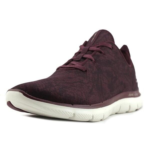 Skechers Flex Appeal 2.0 Change Up Women Synthetic Burgundy Running Shoe