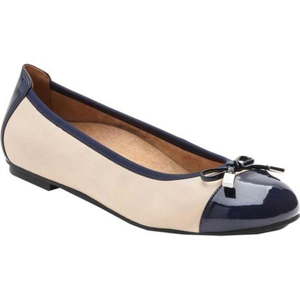 107127de330fb Shop Vionic Women's Minna Ballet Flat Navy Cream - Ships To Canada ...