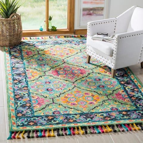 Safavieh Handmade Aspen Dahlia Boho Tassel Wool Rug