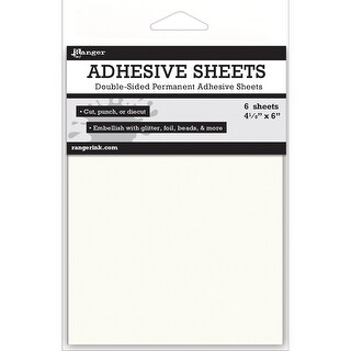 "Ranger Adhesive Sheets-4.125""X6"" 6/Pkg"
