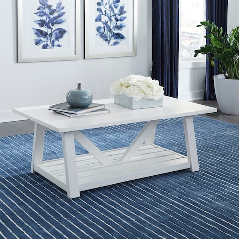 Summer House Oyster White Castered Cocktail Table