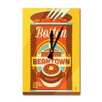 Boston, Massachusetts - Beantown - LP Artwork (Acrylic Wall Clock) - acrylic wall clock