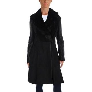 Elie Tahari Womens Tabitha Coat Shearling Suede - M