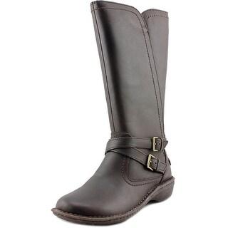 Ugg Australia Rosen Round Toe Leather Mid Calf Boot