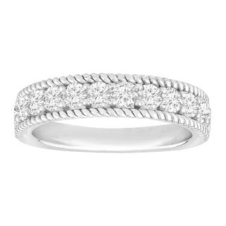1 ct Diamond Anniversary Ring in 14K White Gold