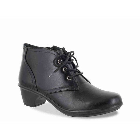 Easy Street Womens Debbie Round Toe Ankle Combat Boots