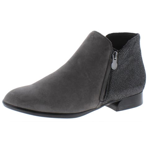 Munro Womens Averee Ankle Boots Leather Double Zipper