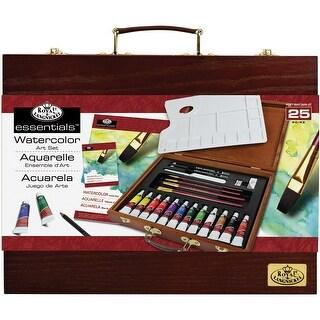 Wooden Box Art Set-Watercolor Painting 25pc
