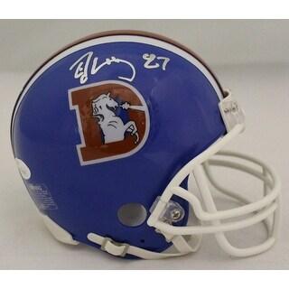 Ed McCaffrey Autographed Denver Broncos Throwback DLogo Mini Helmet JSA