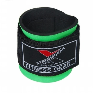 Weight Lifting Wrist WrapsTraining Straps Velcro Locked with Hook Green W1-G