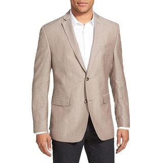 Marc New York Slim Fit Tan Linen Blend Sportcoat Blazer 44 Regular 44R