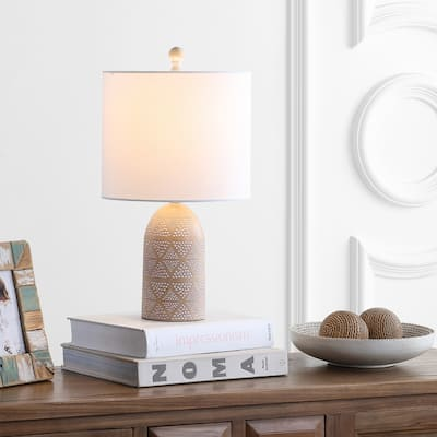"SAFAVIEH Lighting 19"" Nava LED Table Lamp - 10""x10""x18.5"""