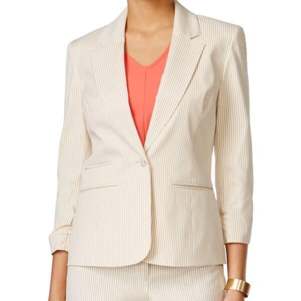 Shop Nine West New Beige White Women S Size 10 Striped Seersucker