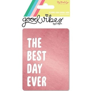 "3""X4""; W/Pink Foil - Good Vibes Double-Sided Journal Cards 24/Pkg"