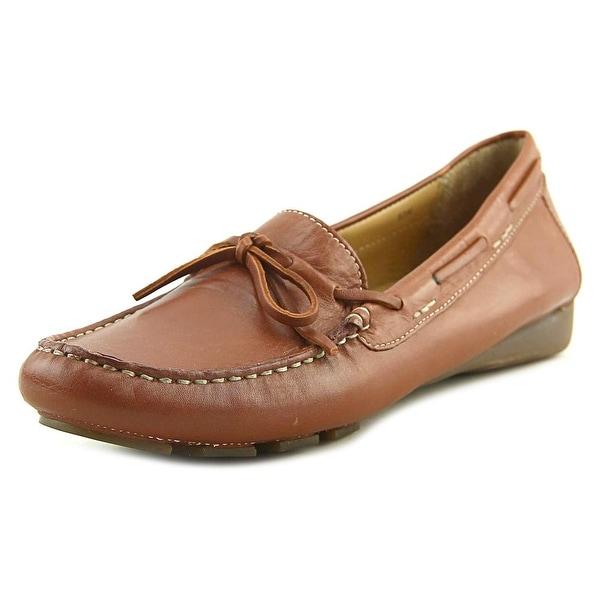Vaneli Rosida Women N/S Round Toe Leather Tan Loafer