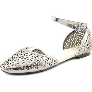 Wanted Julie Women Round Toe Synthetic Silver Flats