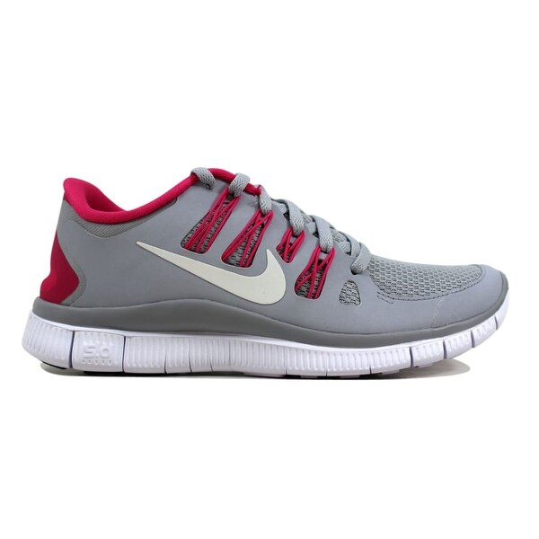 buy online 586b5 08394 Shop Nike Free 5.0+ Wolf Grey/Pink Force-White Women's ...