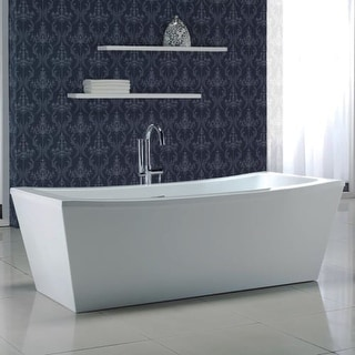 """Miseno MT7035FSR 70-1/16"""" Soaking Bathtub for Free Standing Installations with Center Drain - Overflow and Drain Assembly"""