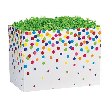 Pack Of 6 Large Rainbow Confetti Gift Basket Boxes 10 1 4 X 6 X 70 5 For Birthday Teens Children
