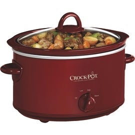 Crockpot Red 4Qt Oval Slow Cooker