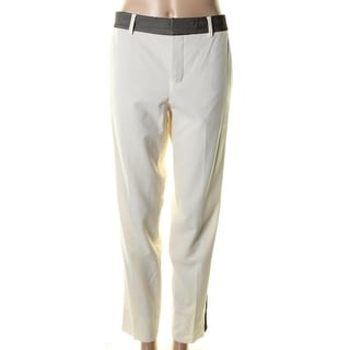 Vince Womens Wool Contrast Trim Dress Pants