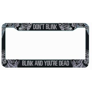 "Doctor Who Licence Plate Frame ""Dont Blink Blink And You Are Dead"""