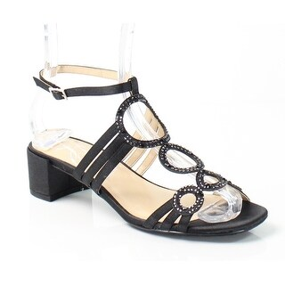 J. Renee NEW Black Terri Shoes Size 7.5N Ankle Strap Sandals