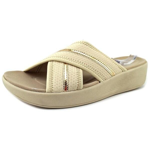 5a2c638b92d Shop Easy Spirit e360 Beach Women Open Toe Canvas Tan Slides Sandal ...