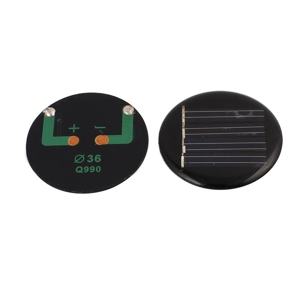 2Pcs Polycrystalline Solar Cell Panel Module Round Shape 36mm Diameter