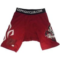 Georges St Pierre Autographed MMA UFC Red Rush Trunks JSA