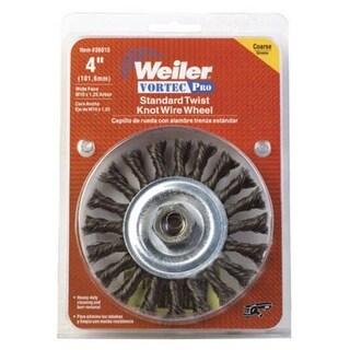 """Weiler 36015 Vortec-Pro Standard Twist Knob Wire Wheel, 4"""""""