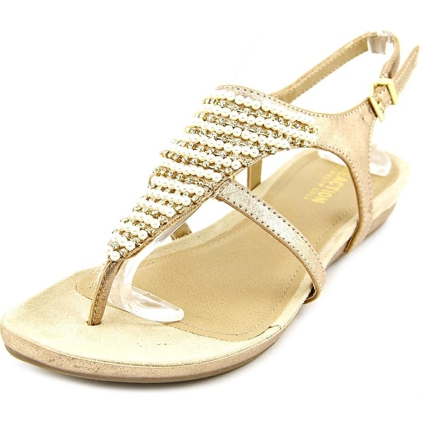 Kenneth Cole Reaction Lost The Way Women Open Toe Synthetic Gold Thong Sandal